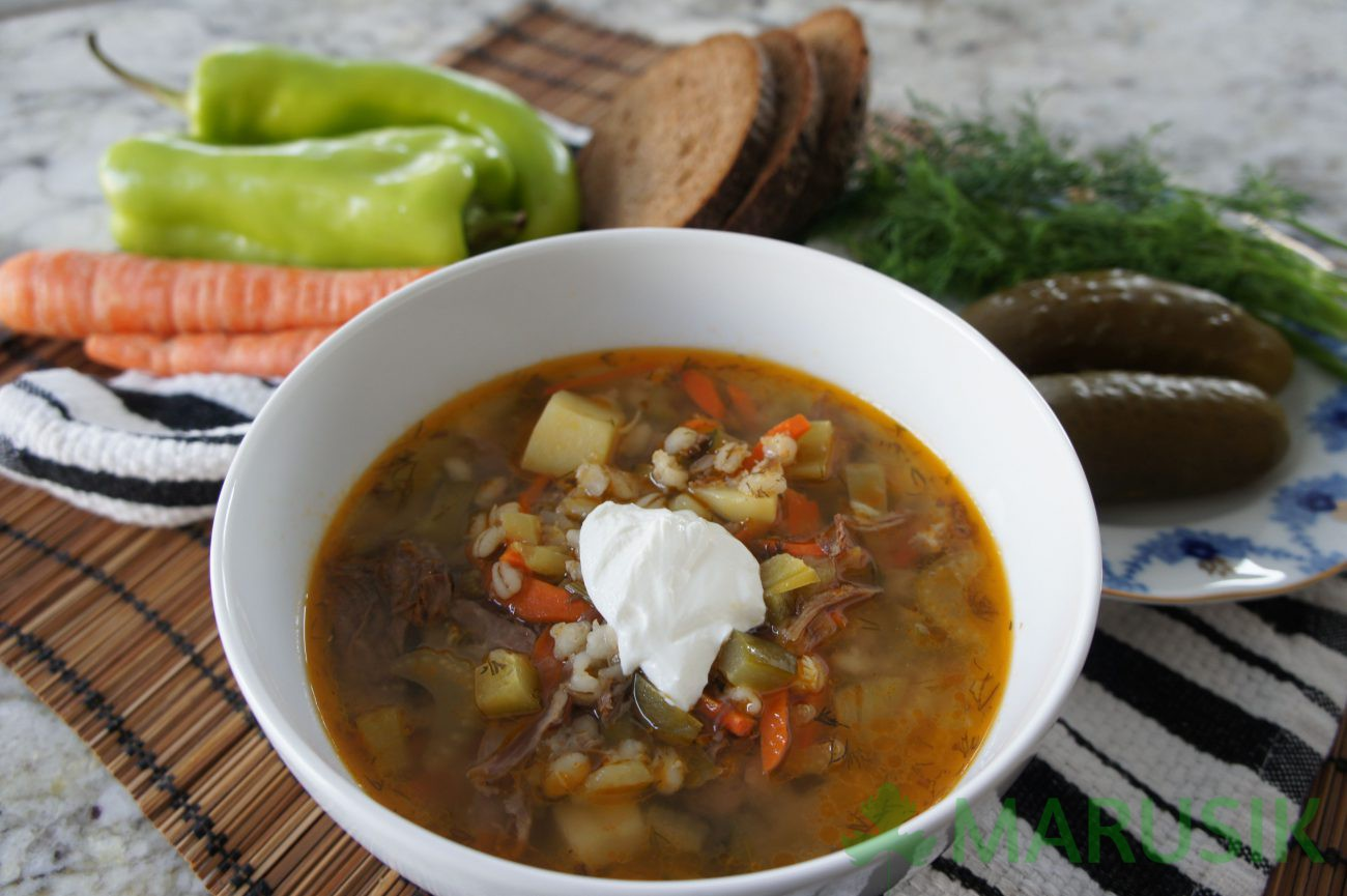 Russian pickle soup